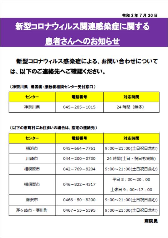コロナ 神奈川 病院 県